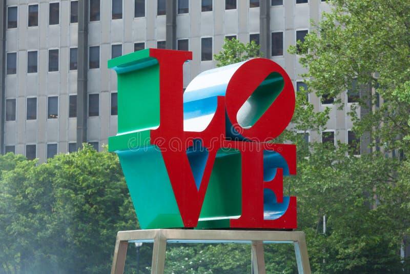 Parc d'amour de Philadelphie - Pennsylvanie - les Etats-Unis photo stock