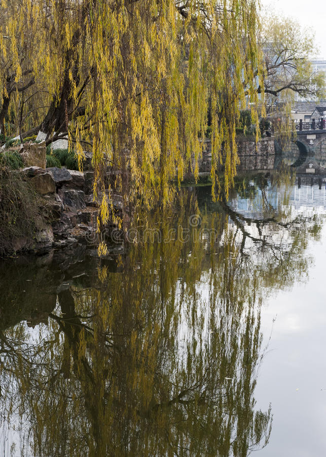 Parc d'aquarelle de la Chine Rugao images stock