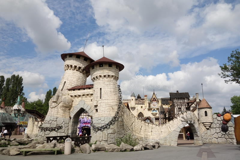 Parc d'Asterix à Paris Village d'Asterix images stock