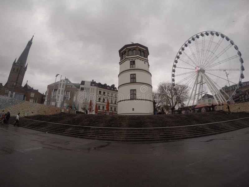 Parc d'attractions à Dusseldorf photos stock