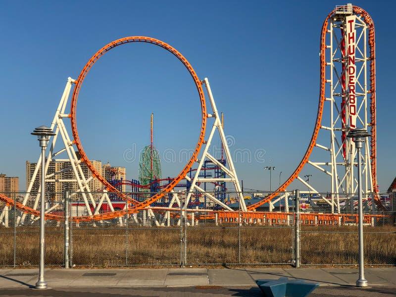 Parc d'attractions de Coney Island - Brooklyn photo libre de droits