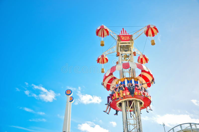 Parc d'attractions de Luna Park à St Kilda Beach à Melbourne image stock