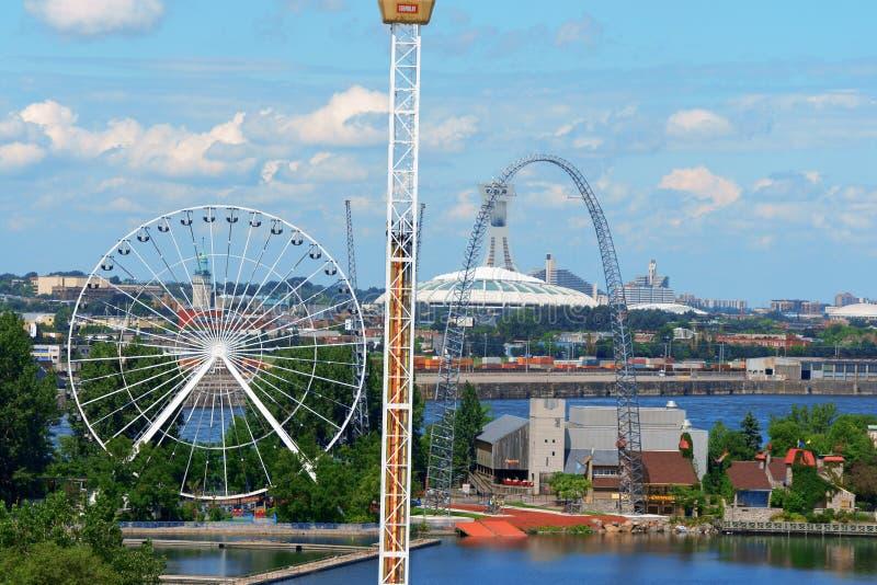 Parc d'attractions de Ronde de La, Montréal image libre de droits