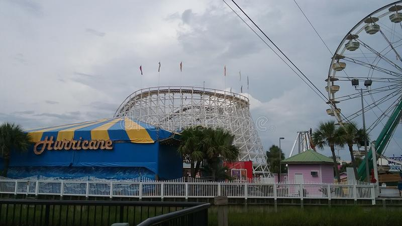 Parc d'attractions en Myrtle Beach photo stock