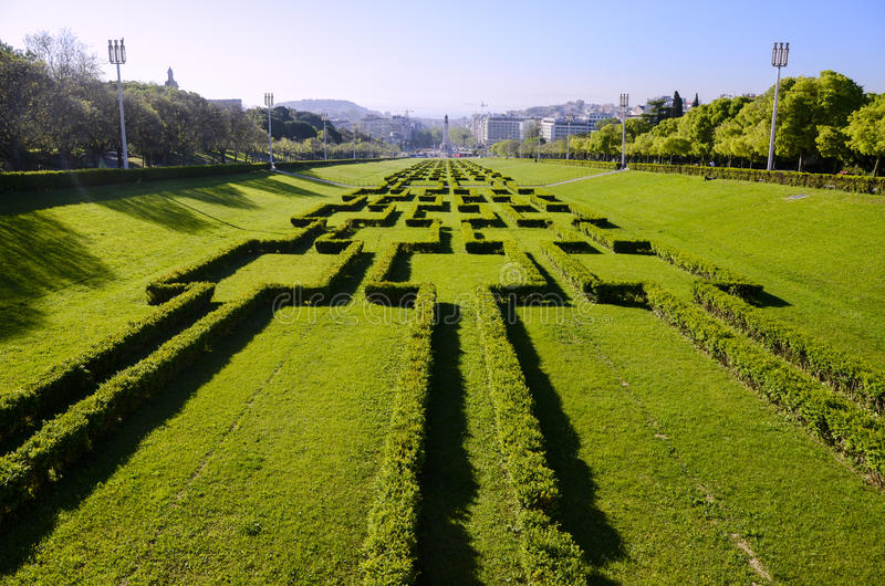 Parc d'Eduardo VII à Lisbonne, Portugal images libres de droits