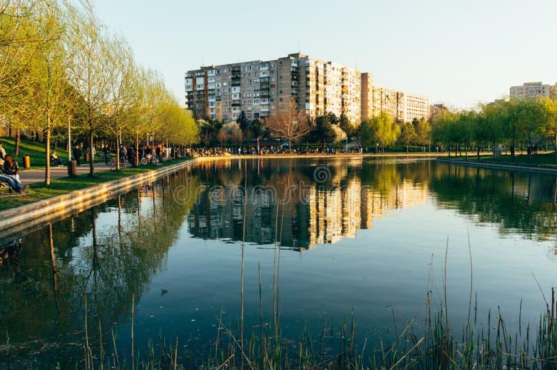 Parc d'IOR, Bucarest, Roumanie photographie stock