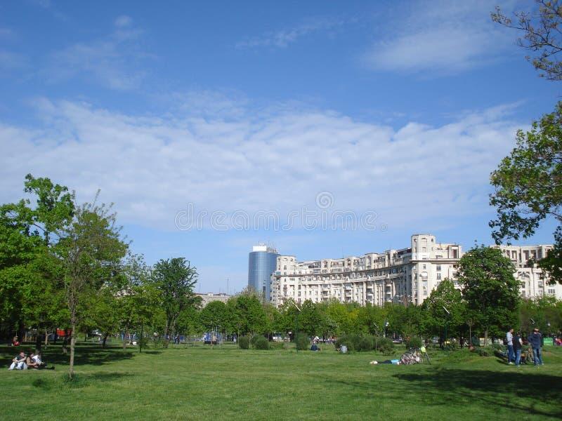 Parc d'Izvor à Bucarest photo stock