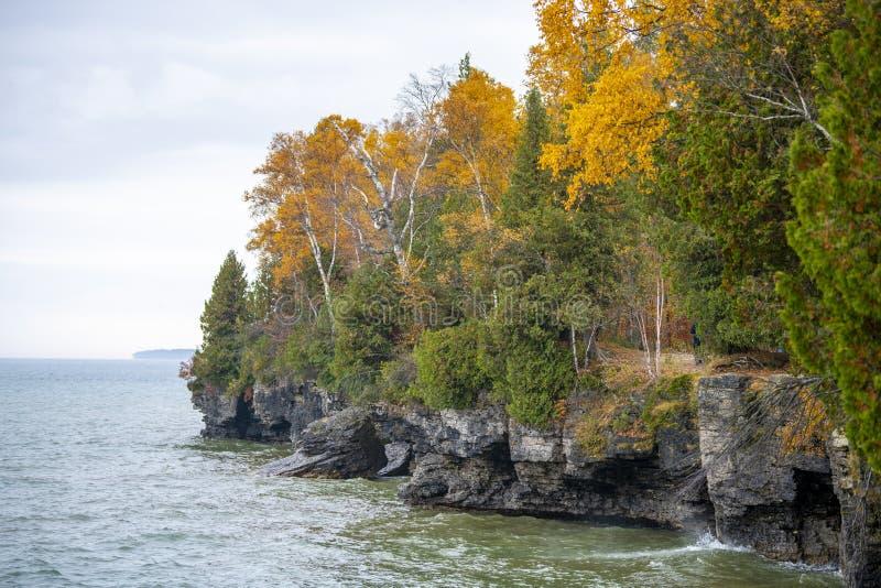 Parc d'?tat de dunes de poisson ? chair blanche du comt? de Door le Wisconsin photo libre de droits