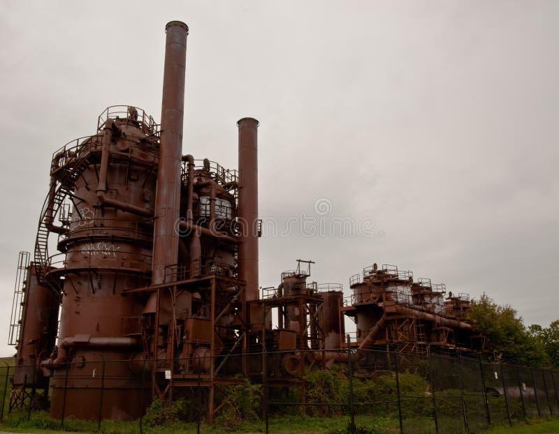 Parc d'usines ? gaz ? Seattle photo libre de droits