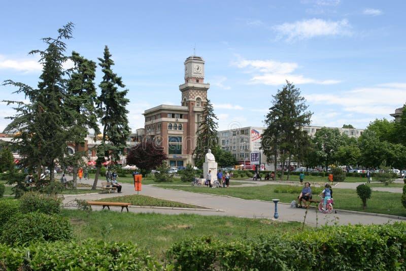 Parc dans la ville de Ploiesti photo libre de droits