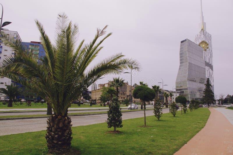 Parc de bord de la mer de boulevard à Batumi, la Géorgie image stock