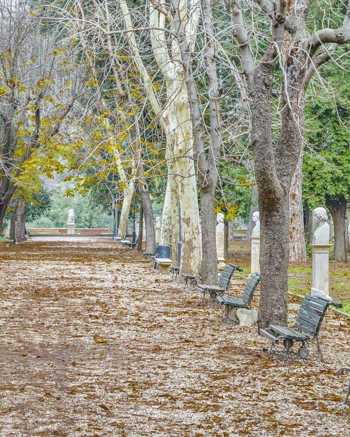 Parc de Borghese de villa, Rome, Italie images libres de droits