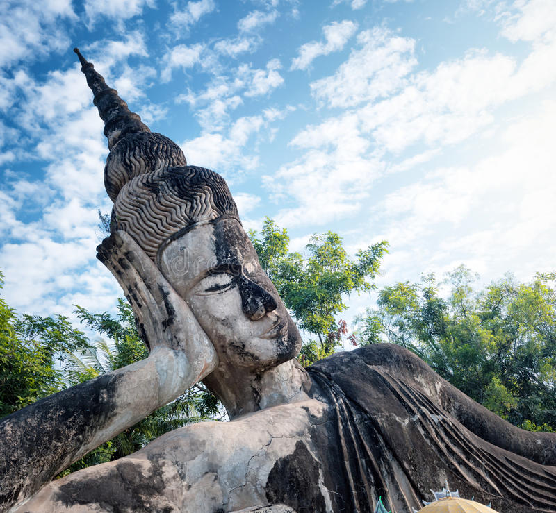 Parc de Bouddha Attraction touristique et parc public à Vientiane Laos photo stock