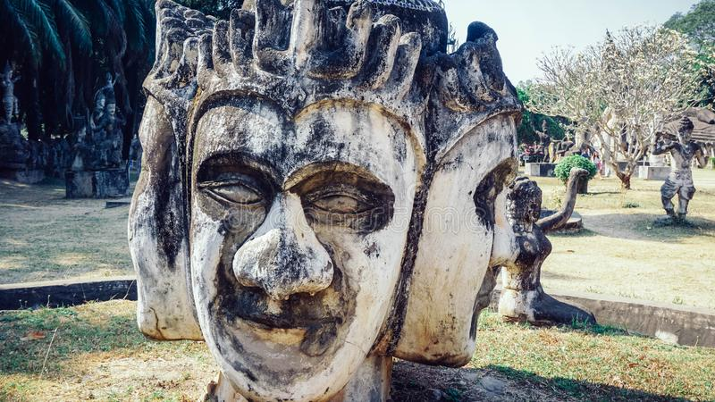 Parc de Bouddha en capitale du Laos - Vientiane images stock