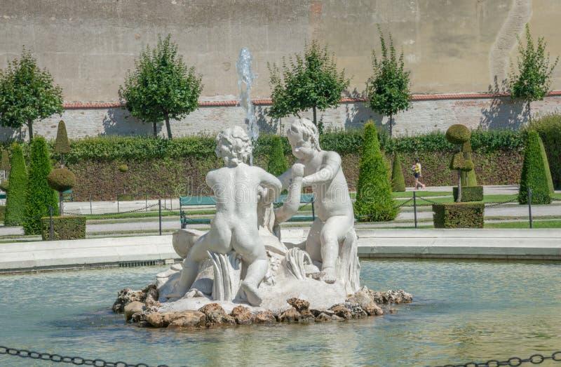 Parc de château de belvédère - Vienne images libres de droits
