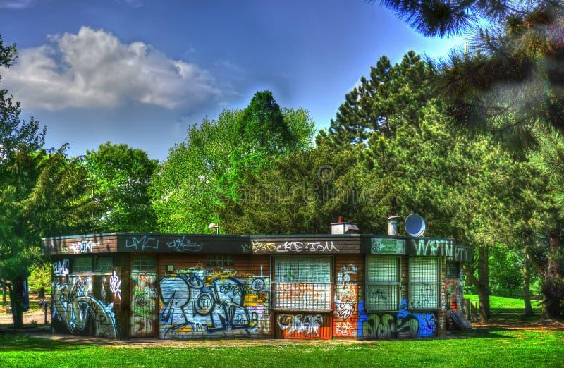 Parc de château de graffiti photographie stock libre de droits