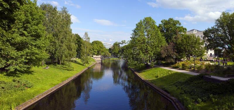 Parc de colline de bastion à Riga image libre de droits