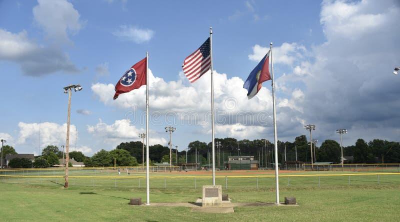 Parc de Deermont et terrains de base-ball, Bartlett, TN photographie stock libre de droits