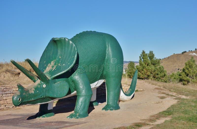 Parc de dinosaure dans la ville rapide, le Dakota du Sud image libre de droits