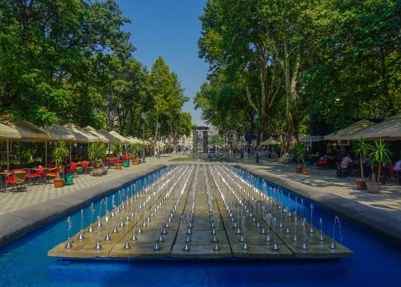 Parc de fontaine d'Erevan Shahumyan photo stock