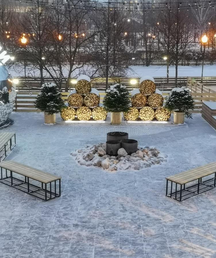 Parc de Gorki à Moscou photos stock