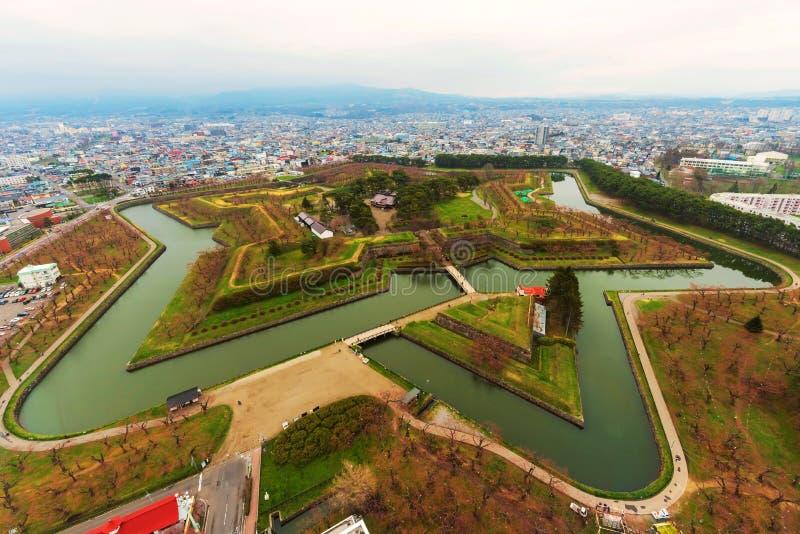 Parc de Goryokaku avec Sakura, Hakodate photographie stock libre de droits