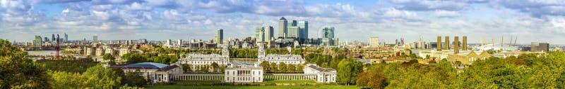 Parc de Greenwich de forme d'horizon de Londres photos stock