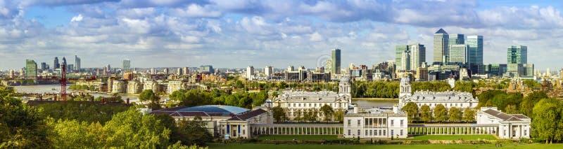 Parc de Greenwich de forme d'horizon de Londres photographie stock