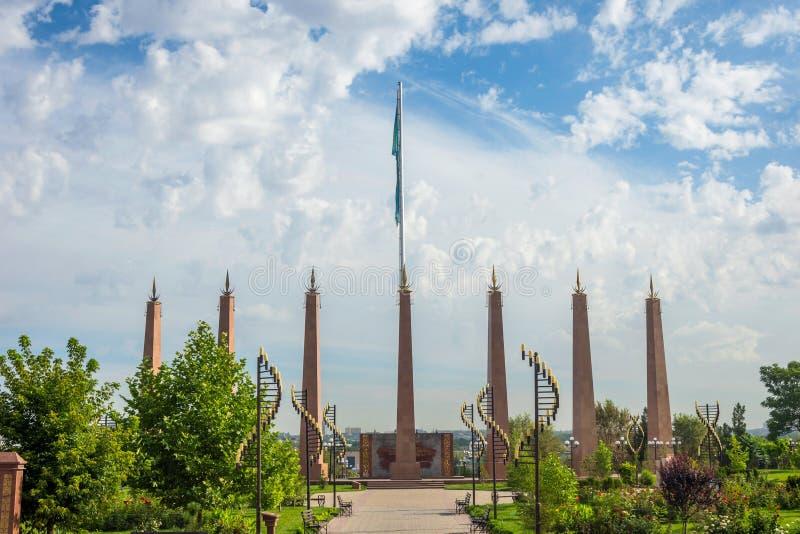 Parc de l'indépendance, Shymkent, Kazakhstan photographie stock