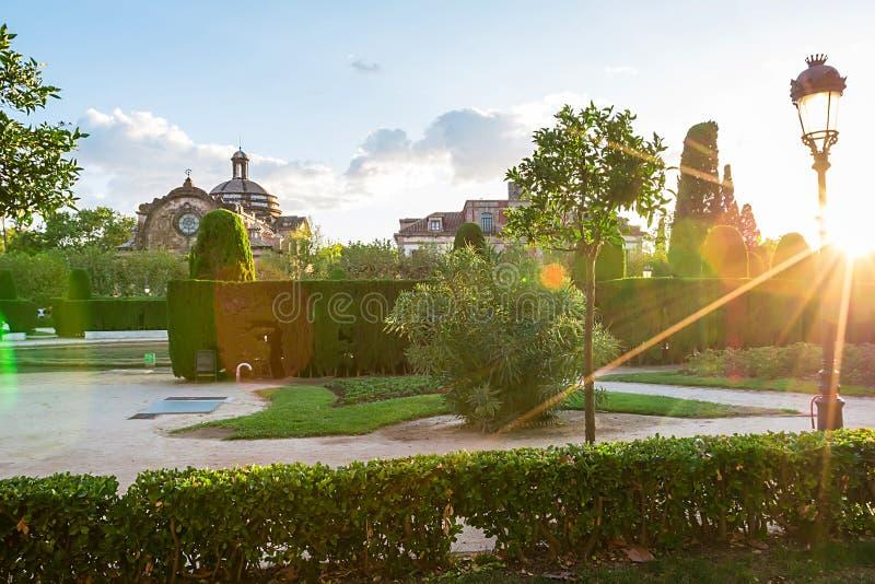 Parc de la Ciutadella stockbilder