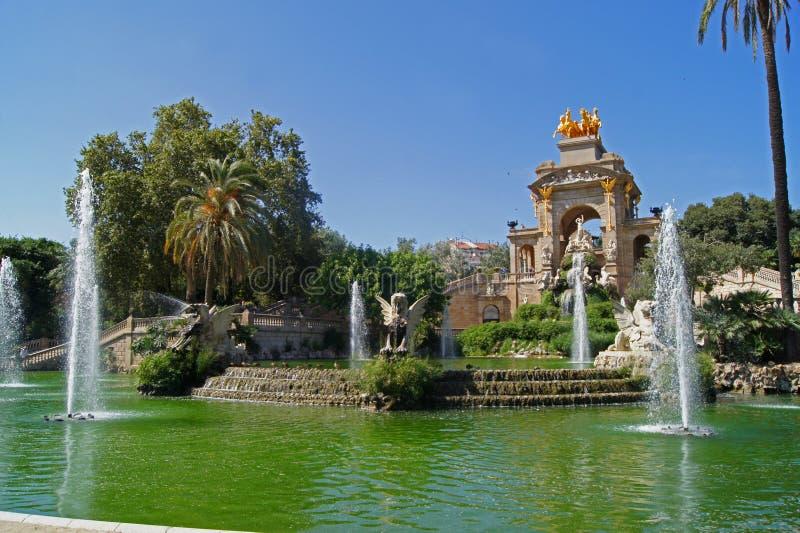 Parc de la Ciutadella a Barcellona fotografia stock libera da diritti