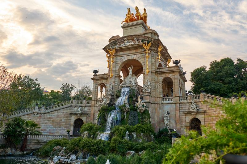 The Parc de la Ciutadella stock photography