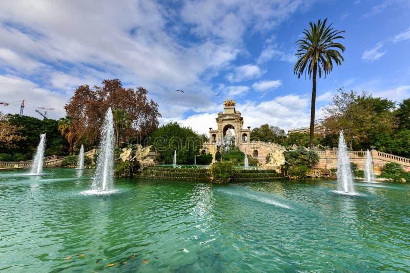 Parc de la Ciutadella - Barcelona, Spain. Fountain at the Parc de la Ciutadella. It is a park on the northeastern edge of Ciutat Vella, Barcelona, Catalonia royalty free stock images