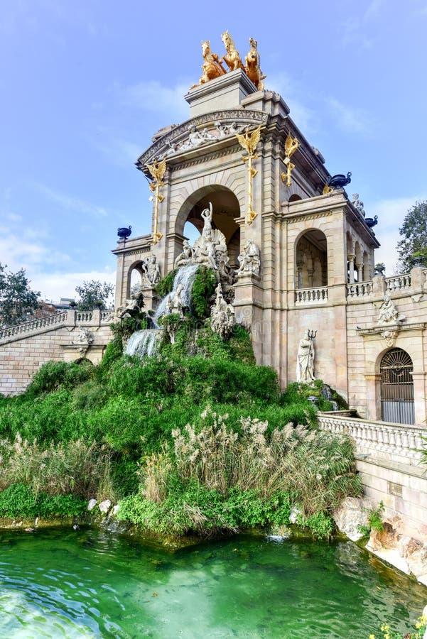 Parc de la Ciutadella - Barcelona, Spain. Fountain at the Parc de la Ciutadella. It is a park on the northeastern edge of Ciutat Vella, Barcelona, Catalonia royalty free stock photos
