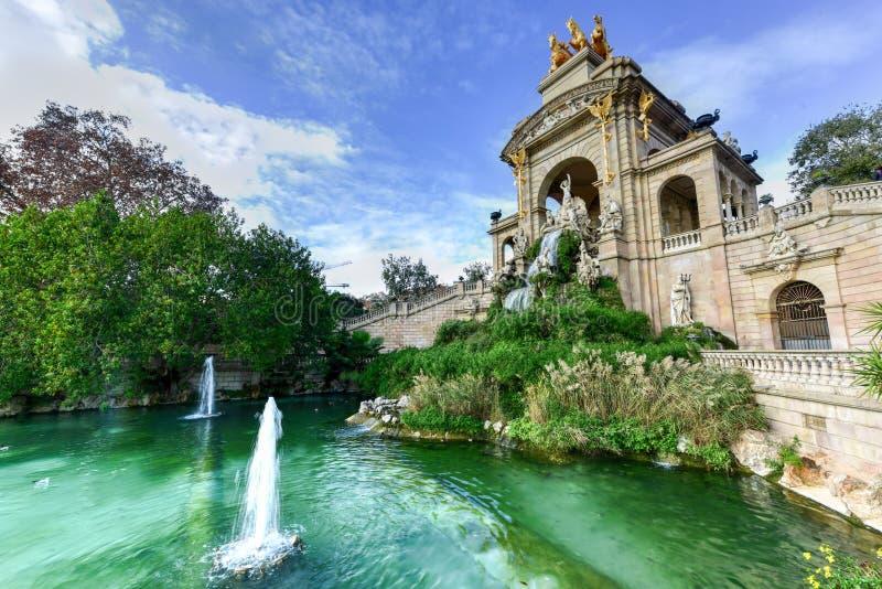 Parc de la Ciutadella - Barcelona, Spain. Fountain at the Parc de la Ciutadella. It is a park on the northeastern edge of Ciutat Vella, Barcelona, Catalonia stock image
