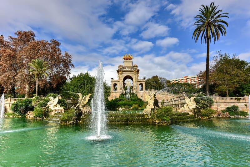 Parc de la Ciutadella - Barcelona, Spain. Fountain at the Parc de la Ciutadella. It is a park on the northeastern edge of Ciutat Vella, Barcelona, Catalonia royalty free stock image