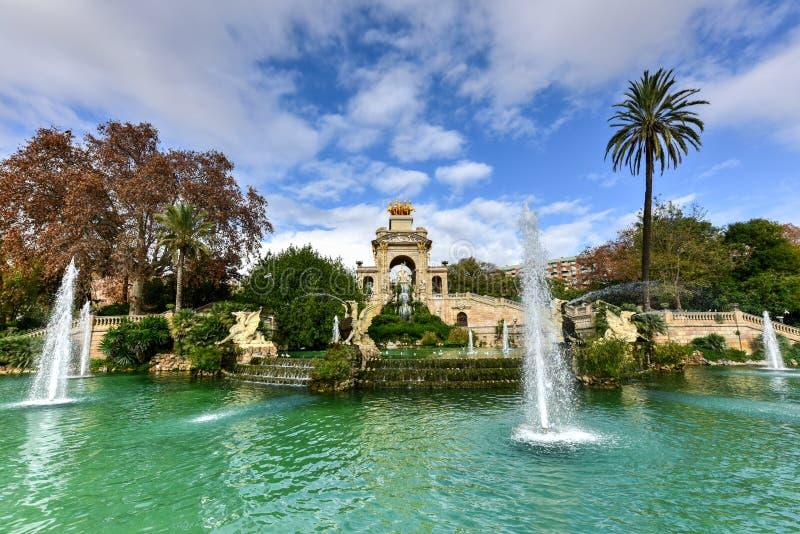 Parc de la Ciutadella - Barcelona, Spain. Fountain at the Parc de la Ciutadella. It is a park on the northeastern edge of Ciutat Vella, Barcelona, Catalonia stock photography