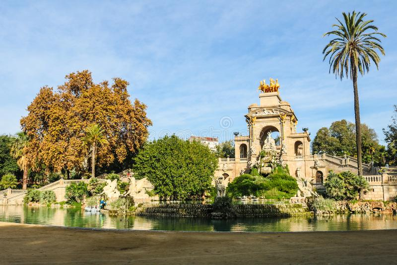 Parc de la Ciutadella, Barcelona, Spanien lizenzfreies stockbild
