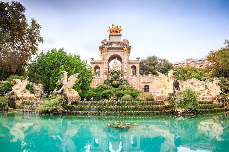Parc de la Ciutadella, Barcelona, Spanien royaltyfri bild
