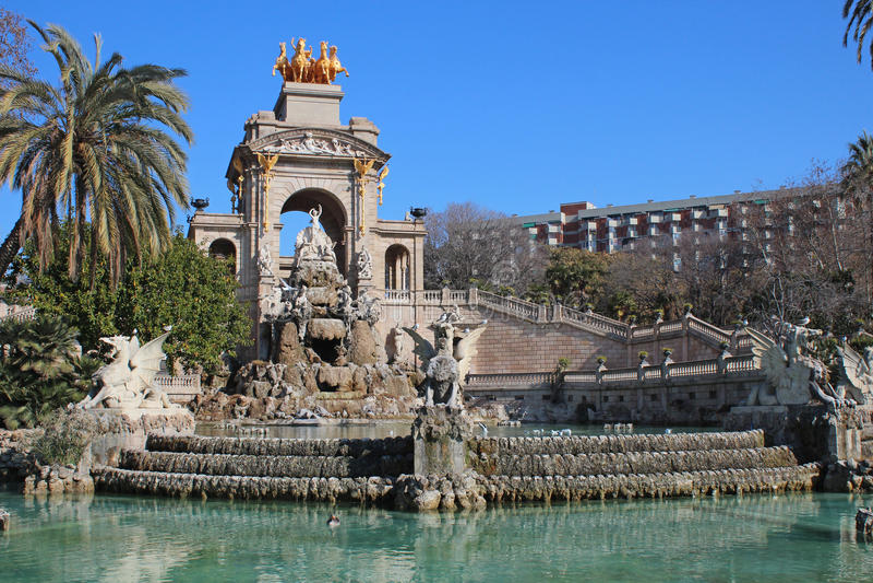 Parc de la Ciutadella (parco di Ciutadella) fotografia stock libera da diritti