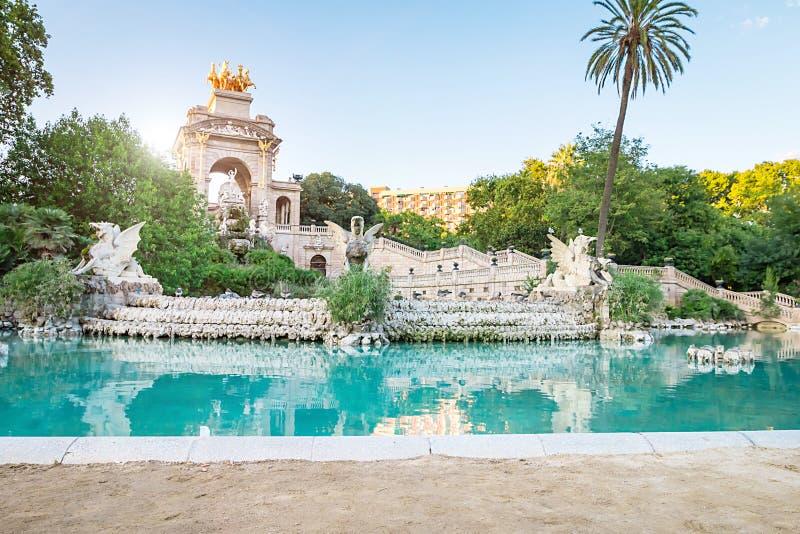 The Parc de la Ciutadella. Is a park on the northeastern edge of Ciutat Vella, Barcelona, Catalonia royalty free stock photo