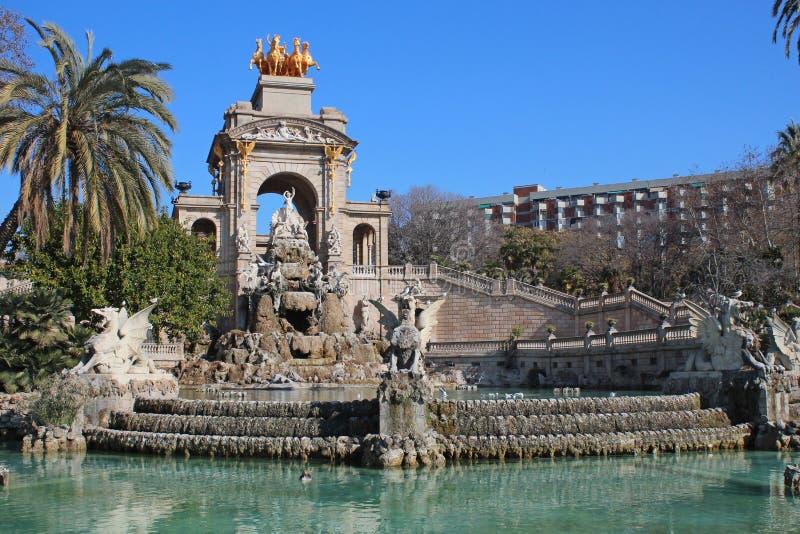 Parc de la Ciutadella (parque de Ciutadella) foto de stock royalty free