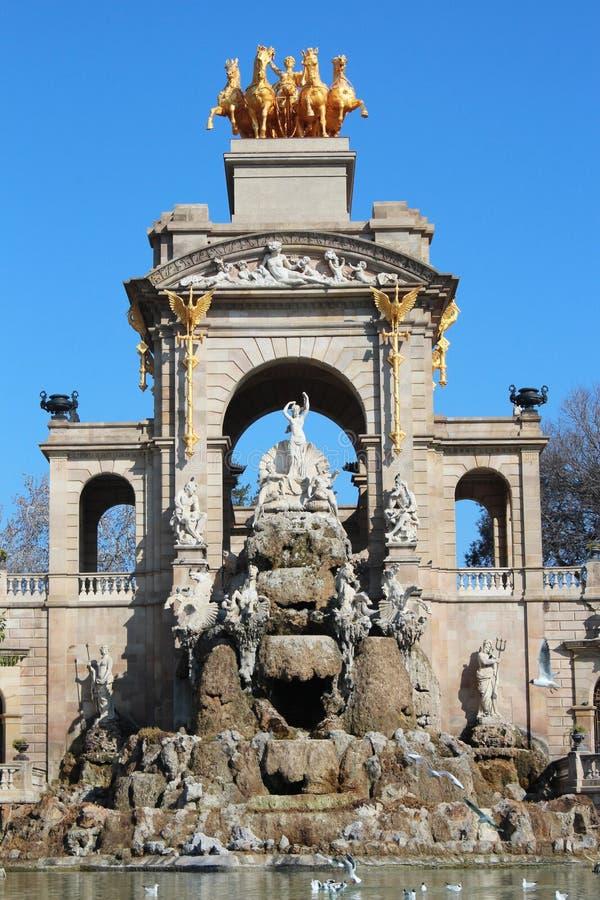 Parc de la Ciutadella (parque de Ciutadella) imagem de stock