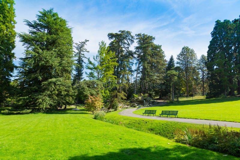 Parc de la Grange en la ciudad de Ginebra, Suiza imágenes de archivo libres de regalías