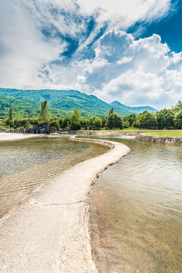 Parc de la Prehistoire in Midi-Pyrenees, France. stock photos