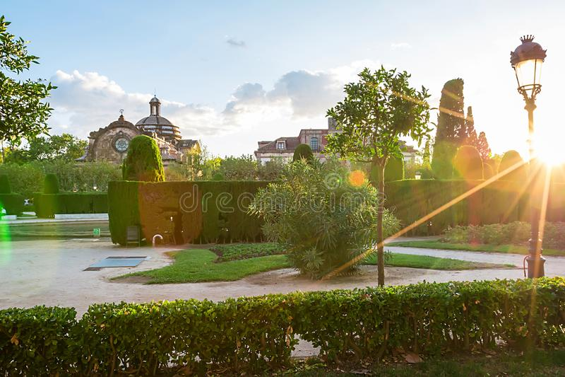 Parc De Los angeles Ciutadella obrazy stock