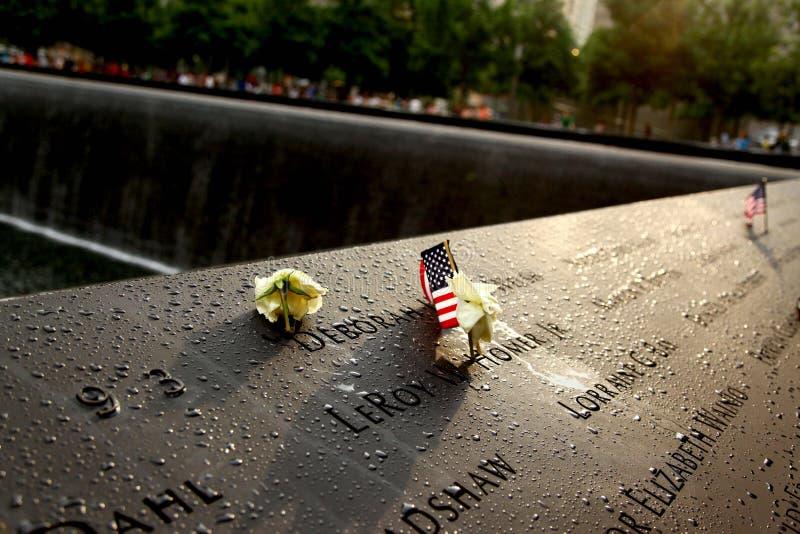 Parc de 911 mémoires après pluie photos libres de droits