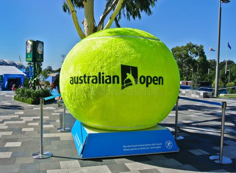 Parc de Melbourne à l'open d'Australie image libre de droits