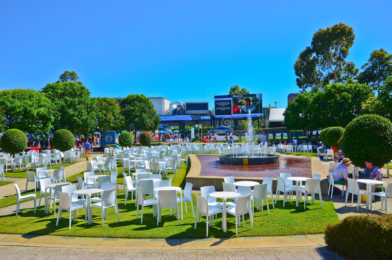Parc de Melbourne à l'open d'Australie photo libre de droits