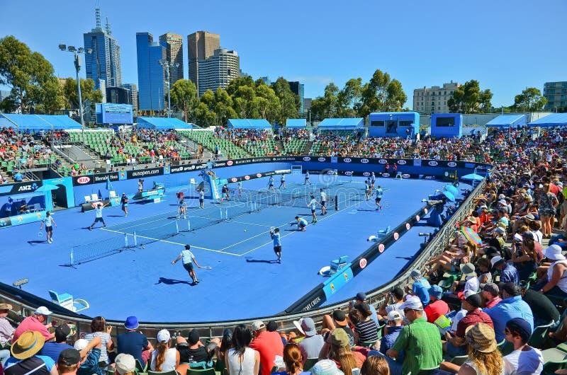 Parc de Melbourne à l'open d'Australie photos stock